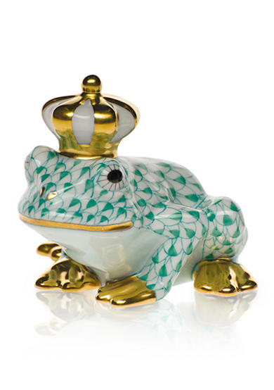 Herend Frog Prince - Green
