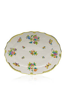 Herend Queen Victoria Green Border Platter