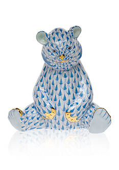 Herend Baby Bear Sitting - Blue