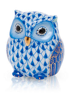 Herend Owlet - Blue Sapphire