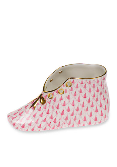 Herend Baby Shoe - Raspberry
