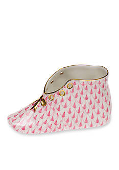 Herend Baby Shoe - Raspberry