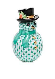 Herend Snowman - Green