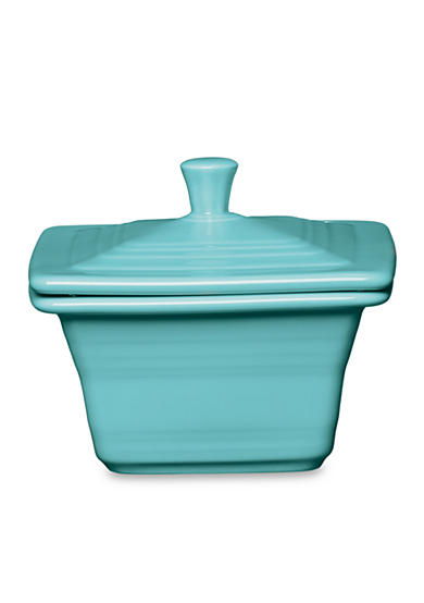 Fiesta® Turquoise Square Covered Box, 9-oz.