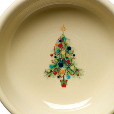 Christmas Dinnerware: Open Beige Fiesta FIESTACMAS OVALPLTTR