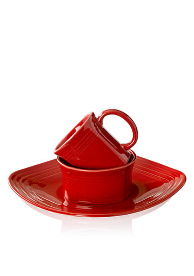 Fiesta® Square Scarlet 3-Piece Place Setting