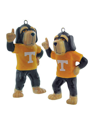 Champion Sales Tennessee Porcelain Mascot Ornaments- Set of 2