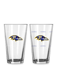 Boelter 16oz NFL Ravens 2-Pack Color Change Pint Glass Set