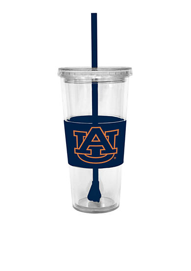 Auburn Tigers Tumbler with Lid and Straw