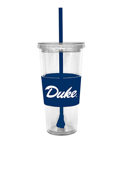 Duke Blue Devils Tumbler with Lid and Straw