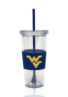 Boelter West Virginia Mountaineers Tumbler with Lid and Straw