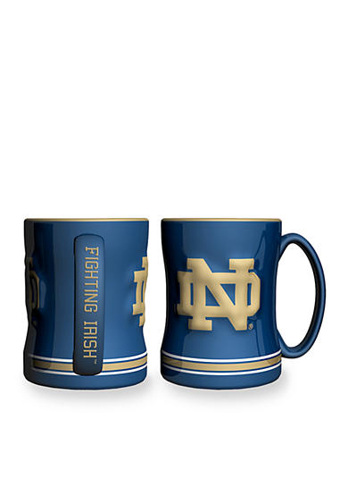Boelter 14-oz. NCAA Notre Dame Fighting Irish 2-pack Relief Sculpted Coffee Mug Set