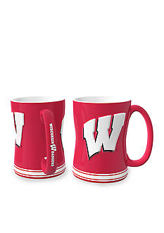 Boelter 14-oz. NCAA Wisconsin Badgers 2-pack Relief Sculpted Coffee Mug Set