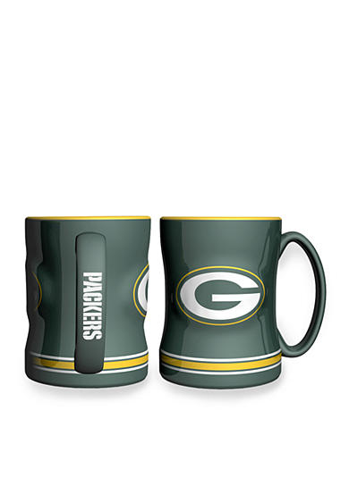 Boelter 14-oz. NFL Green Bay Packers 2-pack Relief Sculpted Coffee Mug Set