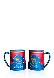 Boelter NCAA Kansas Jayhawks 2-pack Gametime Coffee Mug Set