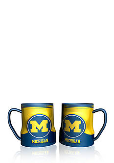 Boelter NCAA Michigan Wolverines 2-pack Gametime Coffee Mug Set