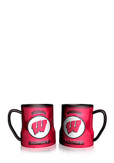 Boelter NCAA Wisconsin Badgers 2-pack Gametime Coffee Mug Set
