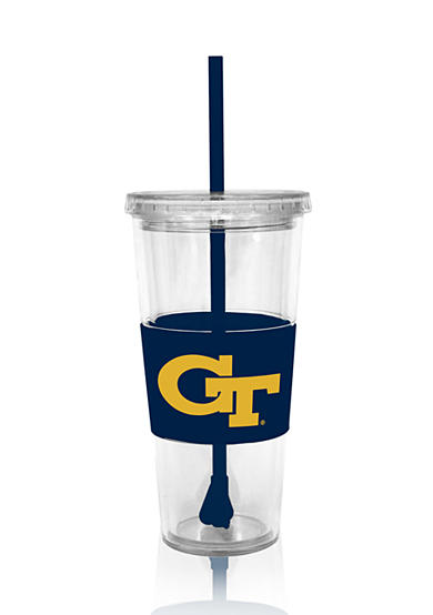 Boelter Georgia Tech Yellow Jackets Tumbler with Lid and Straw