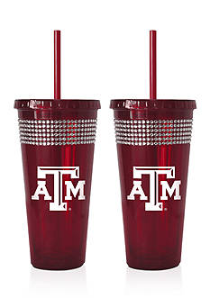 Boelter 22-oz. NCAA Texas A&M Aggies 2-Pack Bling Tumbler with Straw