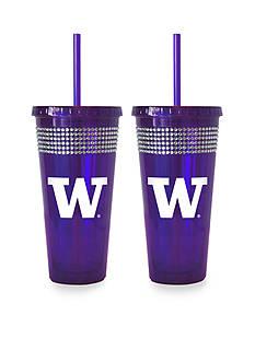 Boelter 22-oz. NCAA Washington Huskies 2-Pack Bling Tumbler with Straw