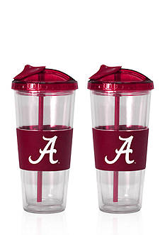Boelter 22-oz. NCAA Alabama Crimson Tide 2-pack No Spill Straw Tumbler<br>