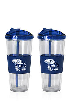 Boelter 22-oz. NCAA Kansas Jayhawks 2-pack No Spill Straw Tumbler