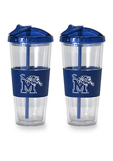 Boelter 22-oz. NCAA Memphis Tigers 2-pack No Spill Straw Tumbler