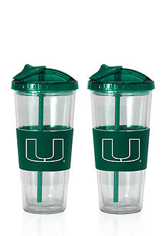 Boelter 22-oz. NCAA Miami Hurricanes 2-pack No Spill Straw Tumbler
