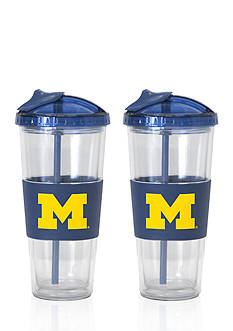 Boelter 22-oz. NCAA Michigan Wolverines 2-pack No Spill Straw Tumbler