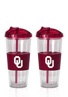 Boelter 22-oz. NCAA Oklahoma Sooners 2-pack No Spill Straw Tumbler<br>