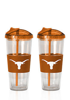 Boelter 22-oz. NCAA Texas Longhorns 2-pack No Spill Straw Tumbler