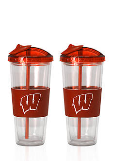 Boelter 22-oz. NCAA Wisconsin Badgers 2-pack No Spill Straw Tumbler