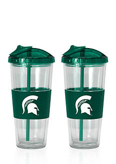 Boelter 22-oz. NCAA Michigan State Spartans 2-pack No Spill Straw Tumbler