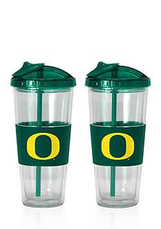 Boelter 22-oz. NCAA Oregon Ducks 2-pack No Spill Straw Tumbler