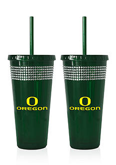 Boelter 22-oz. NCAA Oregon Ducks 2-pack Bling Tumbler with Straw