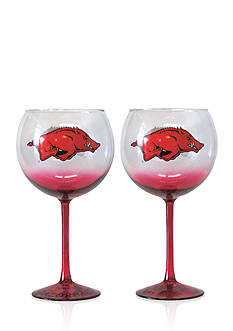 Boelter 20-oz. NCAA Arkansas Razorbacks 2-pack Hand Crafted Balloon Wine Glass Set