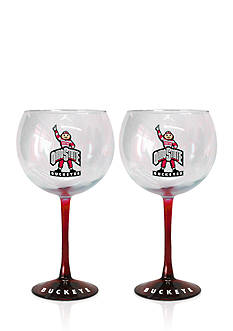 Boelter 20-oz0 NCAA Ohio State Buckeyes 2-pack Hand Crafted Balloon Wine Glass Set