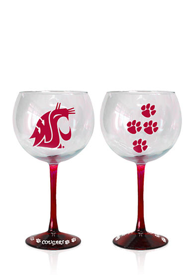 Boelter 20-oz. NCAA Washington State Cougars 2-pack Hand Crafted Balloon Wine Glass Set<br>