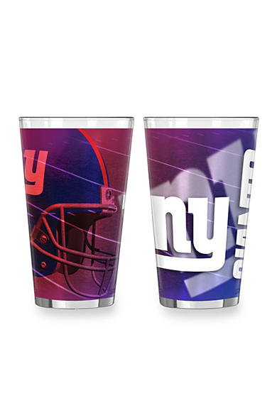 Boelter 16-oz. NFL New York Giants 2-pack Shadow Sublimated Pint Glass Set