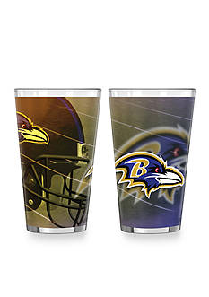 Boelter 16-oz. NFL Baltimore Ravens 2-pack Shadow Sublimated Pint Glass Set