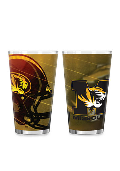 Boelter 16-oz. NCAA Missouri Tigers 2-pack Shadow Sublimated Pint Glass Set