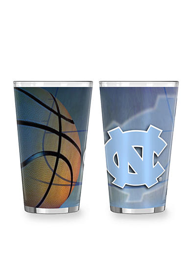 Boelter 16-oz. NCAA UNC Tar Heels 2-pack Shadow Sublimated Pint Glass Set