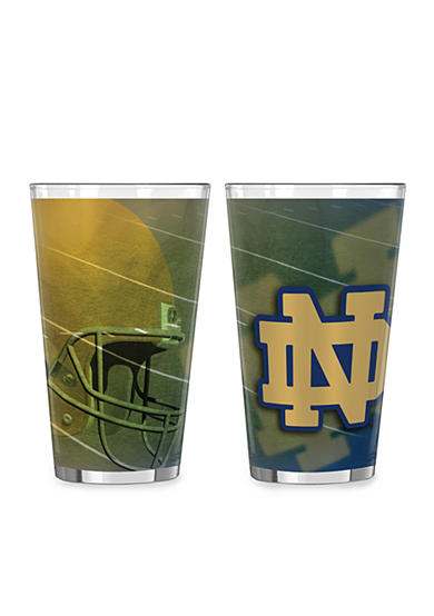 Boelter 16-oz. NCAA Notre Dame Fighting Irish 2-pack Shadow Sublimated Pint Glass Set