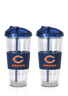 Boelter 22-oz. NFL Chicago Bears 2-pack No Spill Straw Tumbler