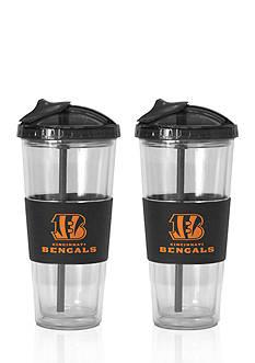 Boelter 22-oz. NFL Cincinnati Bengals 2-pack No Spill Straw Tumbler