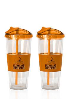 Boelter 22-oz. NFL Cleveland Browns 2-Pack No Spill Straw Tumbler