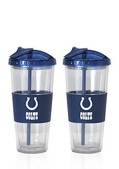 Boelter 22-oz. NFL Indianapolis Colts 2-Pack No Spill Straw Tumbler
