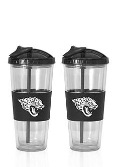 Boelter 22-oz. NFL Jacksonville Jaguars 2-Pack No Spill Straw Tumbler