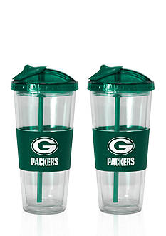 Boelter 22-oz. NFL Green Bay Packers 2-pack No Spill Straw Tumbler