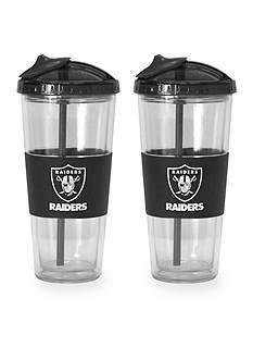 Boelter 22-oz. NFL Oakland Raiders 2-pack No Spill Straw Tumbler